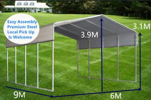 Brisbane BM Steel Carport Shelter 6.0(W)x9.0(D)x3.9(H)m Double Portable Backyard