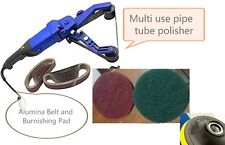 Pipe Tube Polisher 30 Belt Burnishing Tools 10 burnishing pad stainless steel