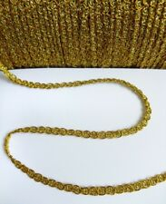 5MM Mini Metallic Golden Scallop Braid Gimp Tape / Trim/ Christmas-5 Yards-T1013