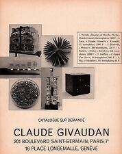 1967 AD   CLAUDE GIVAUDAN PARIS ART MACCHU PICCHY PHRASES MOLLOY