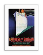 IMPERATRICE della Gran Bretagna Canada NAVE DA CROCIERA vintage viaggio STAMPE SU TELA ART