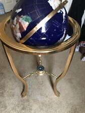 "36"" Lapis Gemstone Globe Blue (Original Handcrafted, Gemstones cut by hand)"