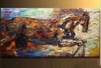 ZOPT289 huge abstract animal horse hand painted oil painting art on canvas