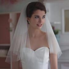 Short Wedding Veils Shoulder Length White Ivory Bridal Veil Formal Birthday Prom