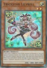YU-GI-OH CARD: TRICKSTAR LILYBELL - SUPER RARE - OP06-EN012