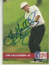 Jim Gallagher Jr.    PGA Golfer Personally Autographed Card