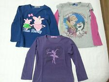 Lotto 622 stock 3 magliette manica lunga bimba bambina 5/6 anni