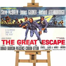 The Great Escape  Steve McQueen Movie Canvas Print Wall Art