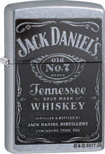 Zippo Lighter Jack Daniels Whiskey Windless USA Made 24779
