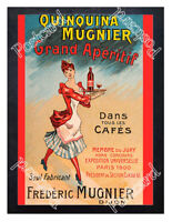 Historic Quinquina Mugnier Grand Aperitif, circa 1900 Advertising Postcard