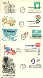 1968-82 FDC,  STAMPED ENVELOPES