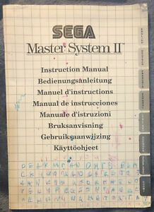 Sega Master System II Instruction Manual Only No Console