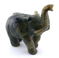 228.4 Gram Carved Canadian  Labradorite Elephant Carving Gem Gemstone EBS7520