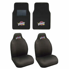 NBA Cleveland Cavaliers Seat Covers & Carpet Floor Mats 4PC Combo Basketball