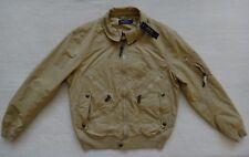 Polo Ralph Lauren Bomber Jacket Mens Size L Beige Coat Water Repellent