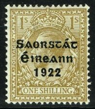 SG 63 IRELAND 1922 - 1s BISTRE-BROWN - MOUNTED MINT