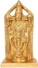 """Master Art Venkateshvara Tirupati Balaji 8.5""""Real Brass Jai God Hindu Statue 2KG"""