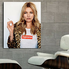 Poster Wall Mural Kate Moss Erotic Model 35x43 inch (90x112 cm) Canvas