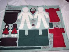Sarah and Anne Doll Fabric Panel ~ Primitive Dolls ~ Concord Fabrics