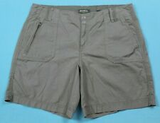 Eddie Bauer Womens Blakely Fit Outdoor Shorts Size 14 Green EUC #14593
