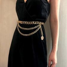 Tassel Gold Chain Belt For Women Dresses Designer Brand Luxury Punk Fringe Belt