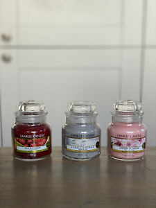 3 x Official Yankee Candle Small Jars 104g