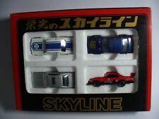 Tomy Tomica The Skyline of Glory EIKO NO SKYLINE Set 4 Cars Rare Made In Japan