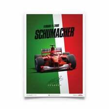 Unique & Limited Poster Ferrari Michael Schumacher F1-2000 GP Italy 50 x 70 cm