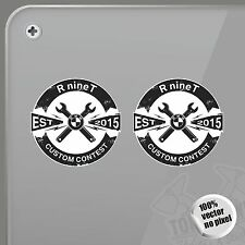PEGATINA BMW R NINE T CUSTOM CONTEST VINILO VINYL STICKER DECAL ADESIVI