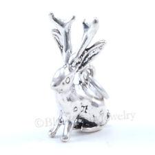 JACKALOPE Charm Pendant DEER-ANTLERED JACK RABBIT Solid Sterling Silver 925 3D