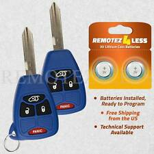 2 For 2005 2006 2007 Chrysler 300 Keyless Entry Remote Car Key Fob 4b Blue