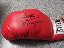 Hall of Fame Boxing Great Smokin Joe Frazier Hand Signed Boxing Glove Photo Proo