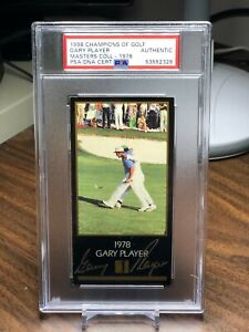 GARY PLAYER 1998 CHAMPIONS OF GOLF SIGNED AUTO CARD 1978 MASTERS PSA DNA
