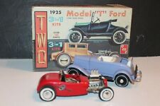 1960's AMT 1925 MODEL T FORD TWO 3 IN 1 MODEL CAR KITS BUILT with BOX #2