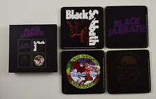 Boxed Set of 4 Collectable BLACK SABBATH Drinks Coasters. Officially Licensed