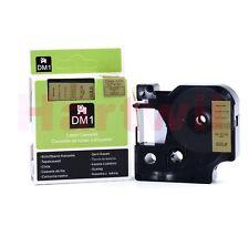 Compatible DYMOD1 45023 Black on Gold 12mm 7m Label Manager  Label Tape Writer