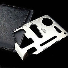 STAINLESS STEEL Credit Card Wallet Pocket Knife SAFETY SEATBELT CUTTER Camping
