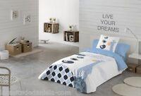 NATURALS Funda nordica cama infantil BLUE SAFARI azul /Duvet cover