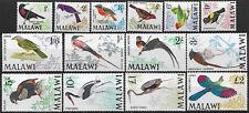 1968 Malawi Uccelli 14v. MNH SG n. 310/23