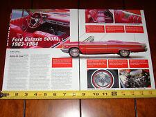 1963 - 1964 FORD GALAXIE 500XL - ORIGINAL 2004 ARTICLE