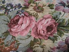 """2 YARDS TAPESTRY MATERIAL with ROSE BOUQUETS~56"""" WIDE~Cottage~Crafts~Sewing"""