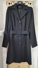 Manteau Noir avec ceinture SINEQUANONE T.38 + CADEAU Sac à main noir NEUF
