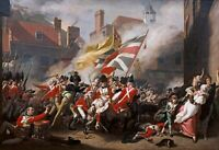 "The Death of Major Peirson 1781 CANVAS PICTURE WALL ART 20""x30"" INCHES"