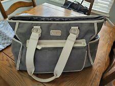 carter's gray diaper bag vguc