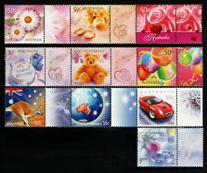 2003 Celebration & Nation $1 Single & 3 Strips of 3 with Tabs  MNH
