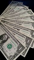 ONE Uncirculated Consecutive $1 Bill, UNC FRN Real Banknote RARE LUCKY US DOLLAR