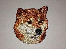 "1 7/8"" x 2 1/8"" Shiba Inu Canine Dog Breed Portrait Embroidery Patch"