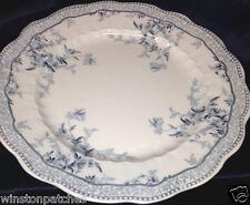 "RIDGWAYS ETON ENGLAND DINNER PLATE 9 3/4"" BLUE FLOWERS & SCROLLS EATON"