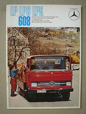 MERCEDES-BENZ  LP-LPS-LPK 608  Light truck/Lastwagen  brochure/Prospekt  1970.