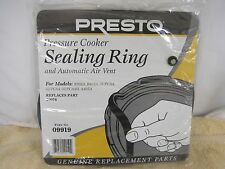 Presto 09919 Pressure Cooker Sealing Ring Gasket and Automatic Air Vent Genuine